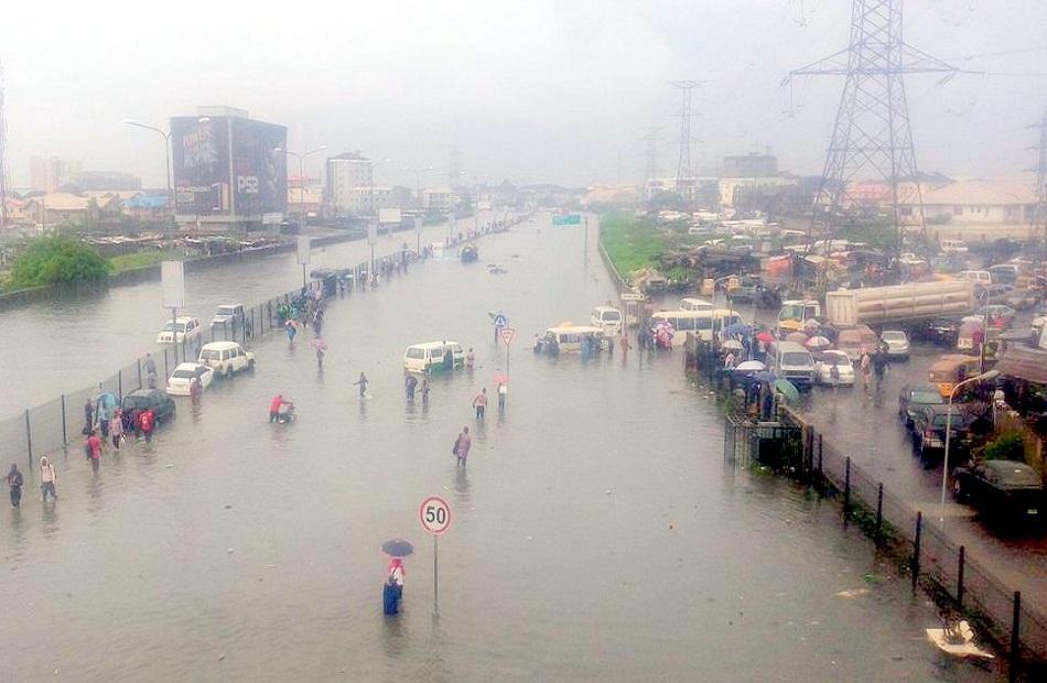 الفيضانات في مدينة لاجوس النيجيرية