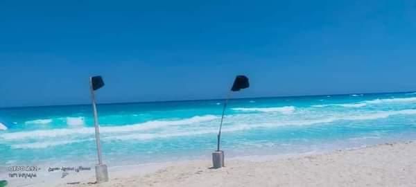 مرسى مطروح غلق جميع الشواطئ المفتوحة بسبب ارتفاع الأمواج |صور