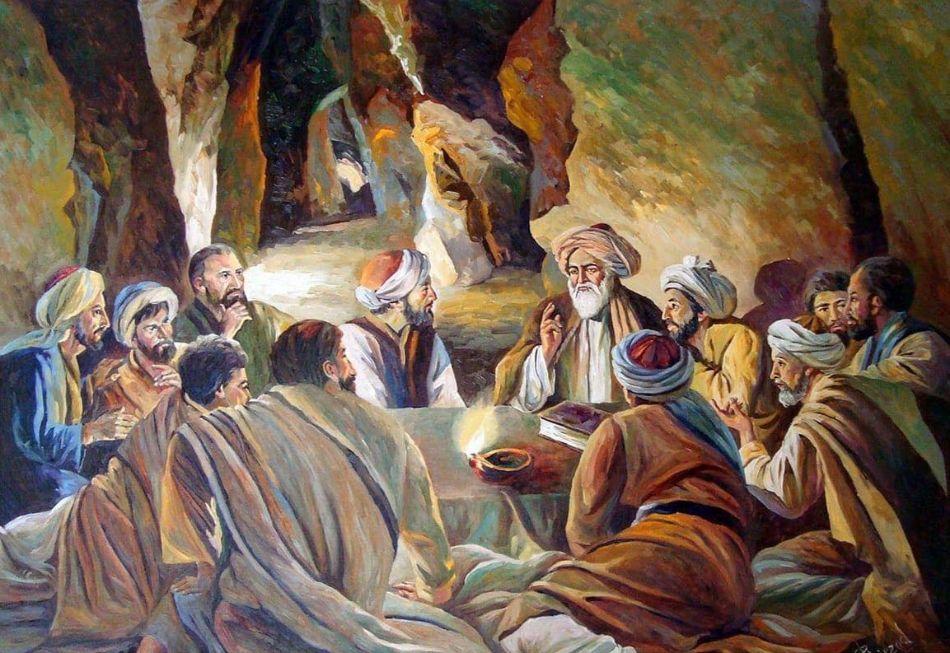 الرحالة الفارسي ناصر خسرو بين تلاميذه