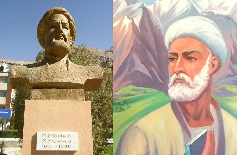 تمثال ولوحة للرحالة ناصر خسرو