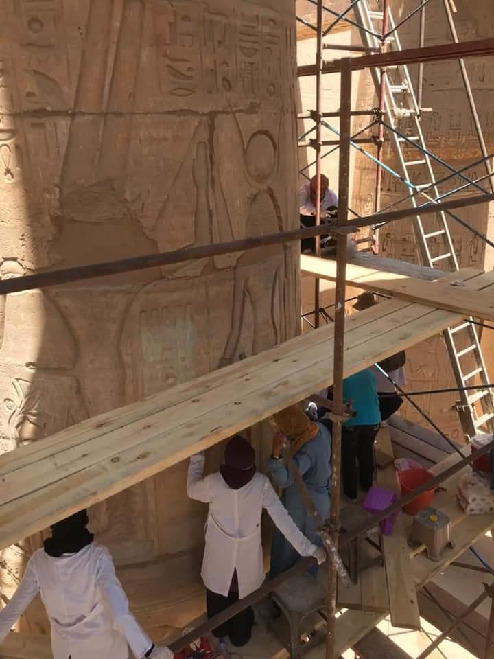 ترميم صالة الأعمدة الكبرى لمعبد الكرنك