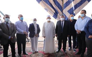 شيخ الأزهر ووزيرة الصحة يتفقدان أعمال إنشاء مستشفى القرنة التخصصي بالأقصر  صور