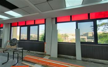 نائب رئيس جامعة عين شمس يتابع تطورات التجديدات الإنشائية بكلية الآداب  صور
