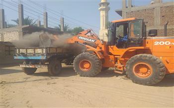 رفع ١١ طن مخلفات في حملة مكبرة بمدينة البياضية في الأقصر صور