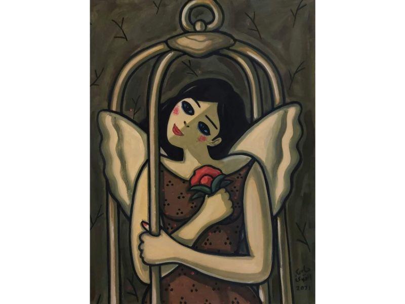 الحرية للمرأة  التشكيلي حلمي التوني يكشف عن أحدث لوحاته