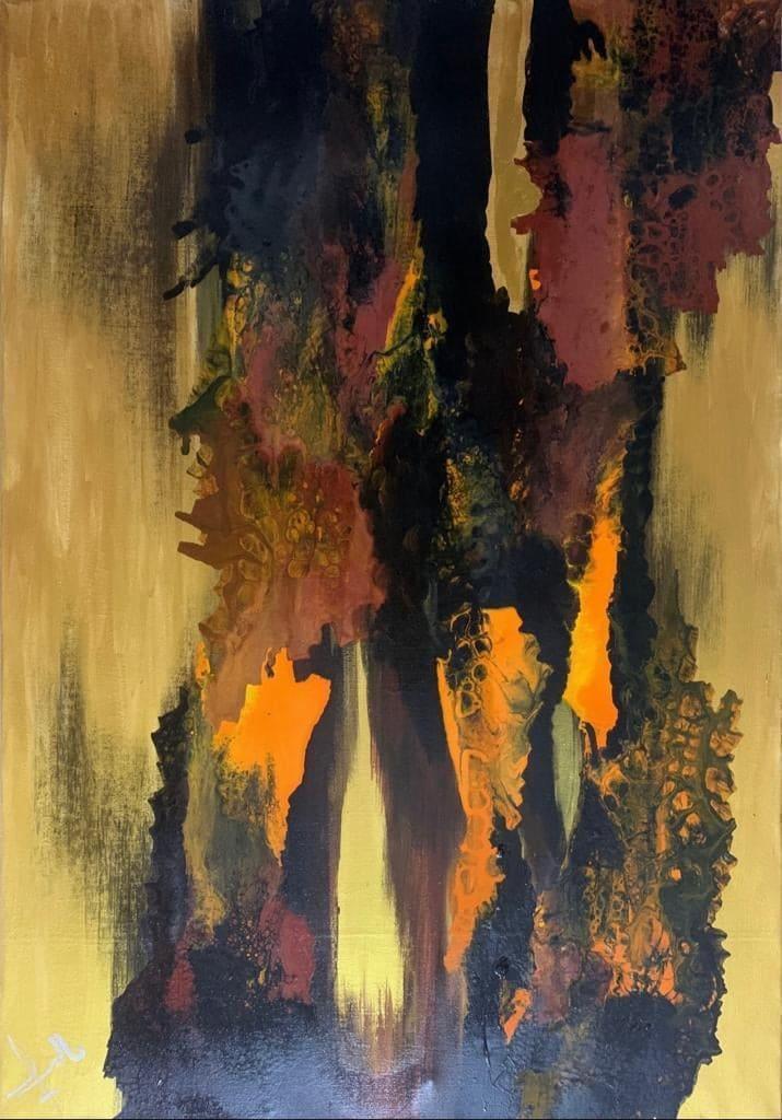 من لوحات معرض  شخبطة