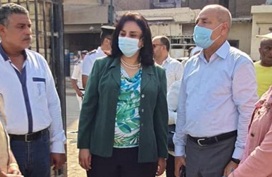 نائبة وزير السياحة تتفقد تطوير محيط مزار شجرة مريم في المطرية| صور