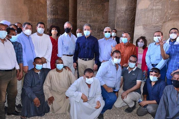افتتاح مشروع ترميم وتطوير وكالة الجداوي الأثرية بإسنا