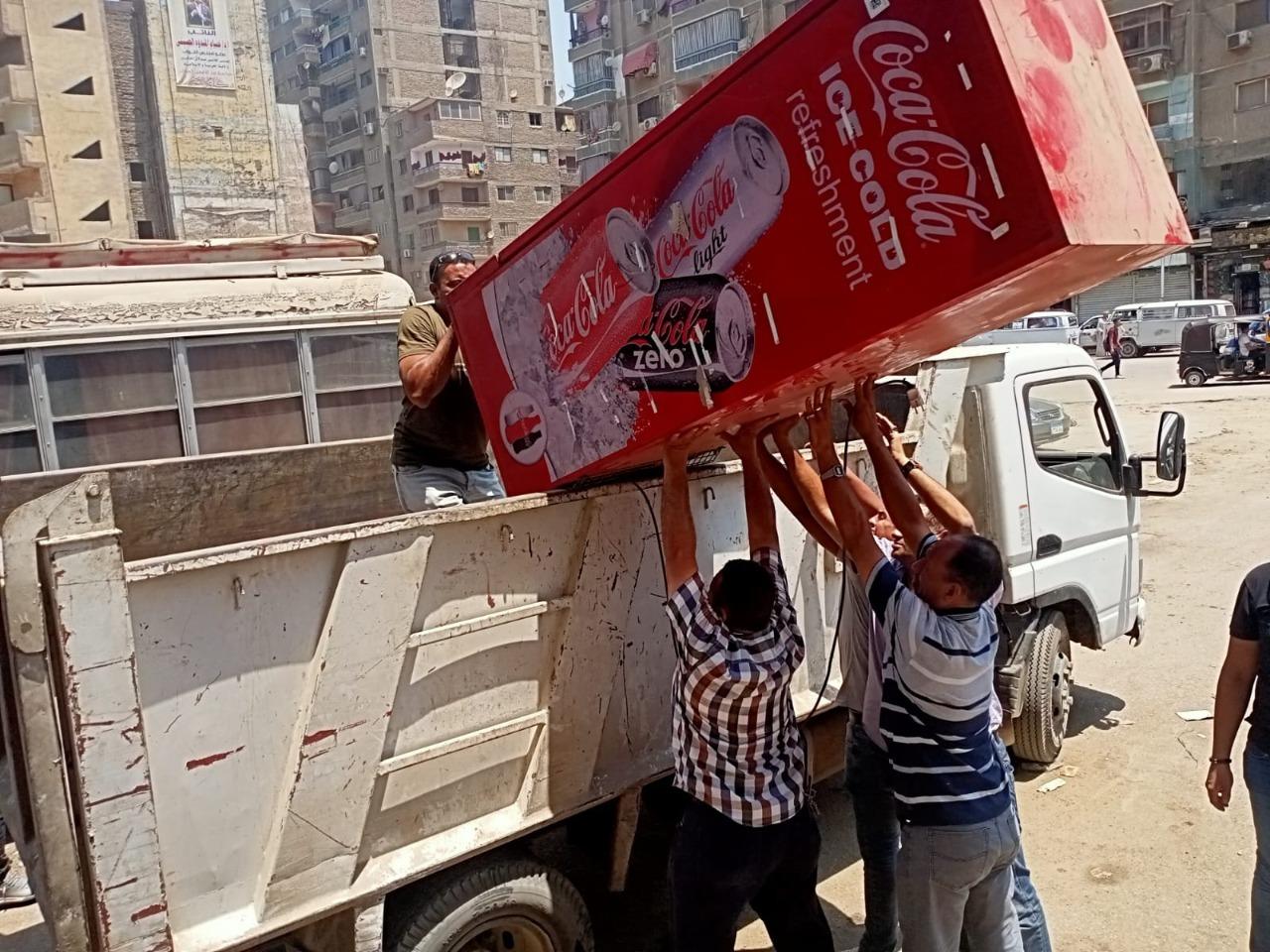 رفع إشغالات في حملات بمحافظة الجيزة