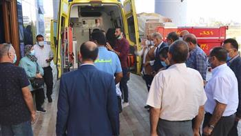 محافظ-كفر-الشيخ-يتابع-نقل-لاعبين-من-فريق-دسوق-لكرة-السرعة-المصابين-إلى-المستشفى-الجامعي -صور