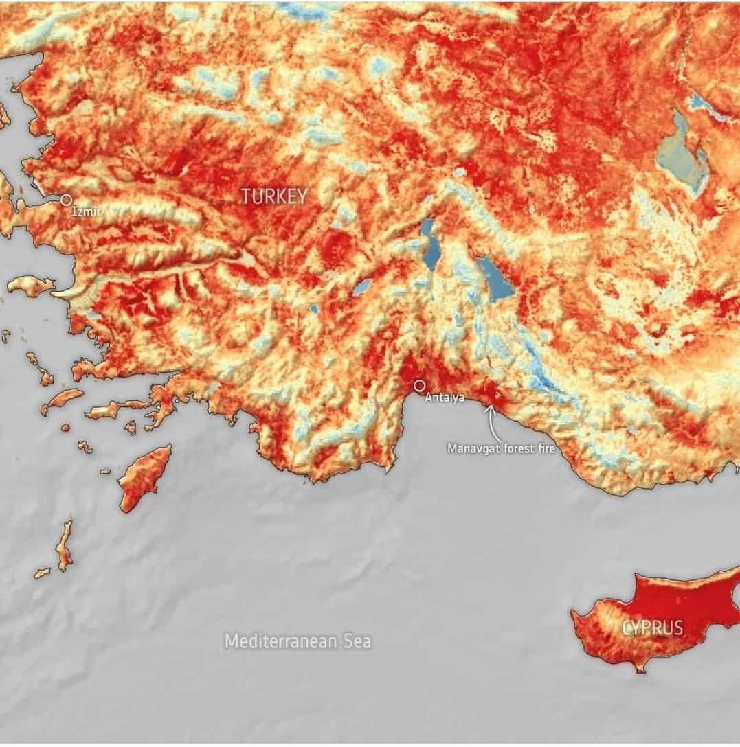 ارتفاع الحرارة فى حوض البحر المتوسط