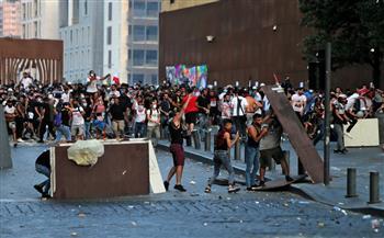 استنفار أمني مكثف بوسط بيروت لوقف التخريب وملاحقة مثيري الشغب