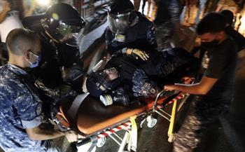 الصليب الأحمر اللبناني: ارتفاع عدد المصابين بفعاليات إحياء ذكرى انفجار ميناء بيروت إلى 62 مصابًا
