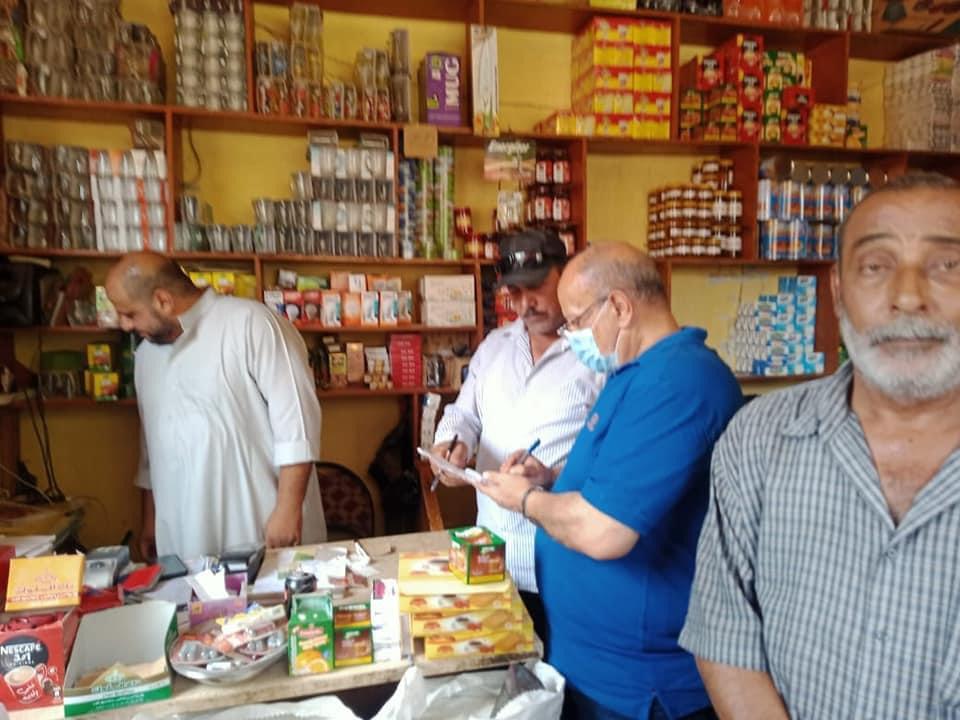 تحرير  محضرًا تموينيًا لتجار في مركز شبراخيت بالبحيرة