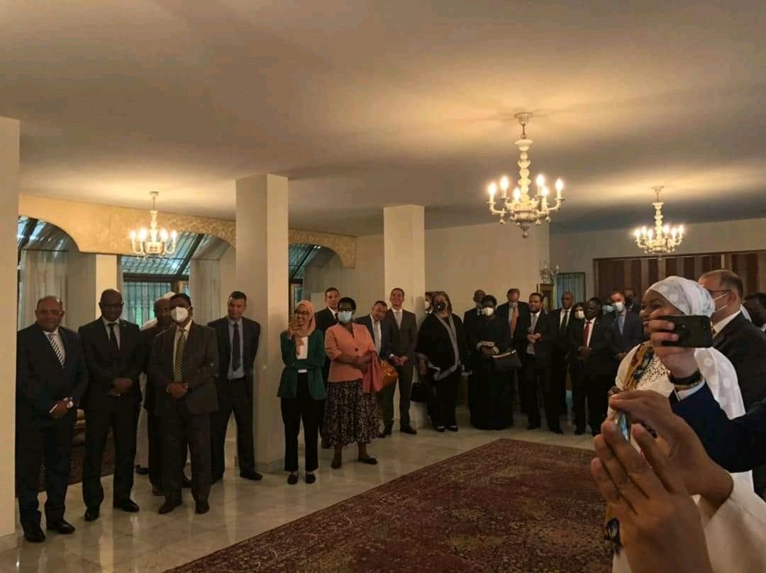 سفير مصر فى أديس أبابا يودع المجتمع الدبلوماسي بإثيوبيا