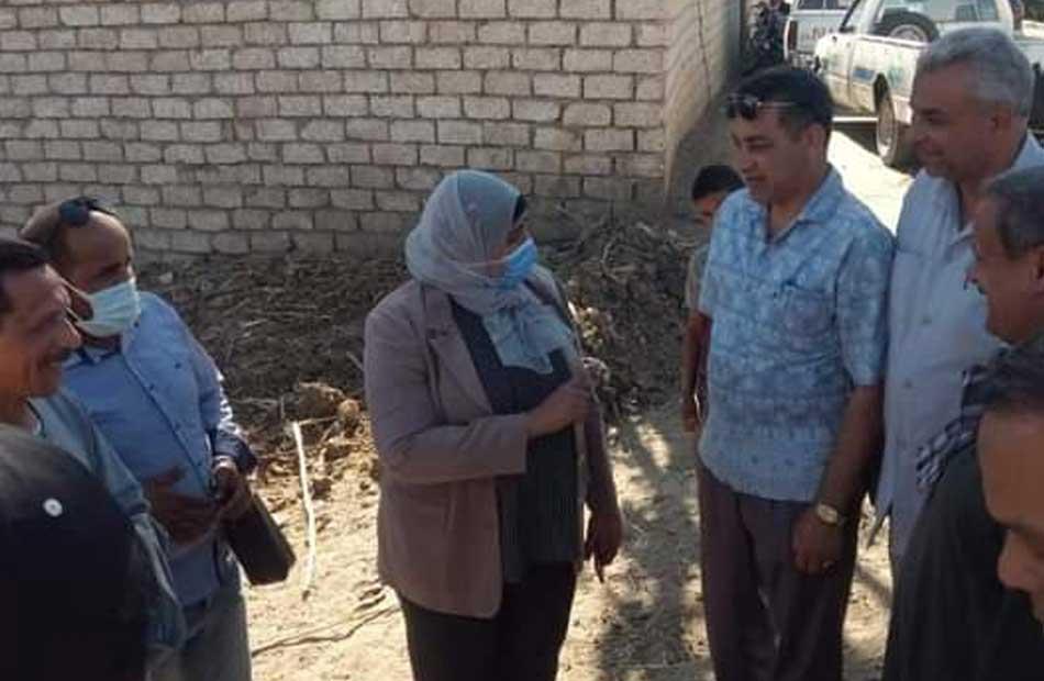 رئيسة الوحدة المحلية لمركز ومدينة طهطا تتابع مشاريع الصرف الصحى