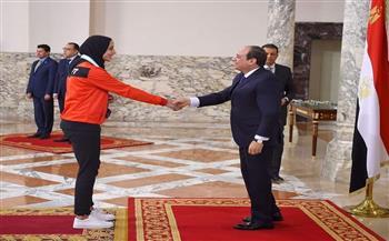 الرئيس-السيسي-كرمها-قبل-عامين-فريال-أشرف-;بطلة-من-ذهب;