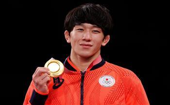الياباني-تاكوتو-أوتوجورو-يحرز-ذهبية-وزن--كلج-في-المصارعة-الحرة