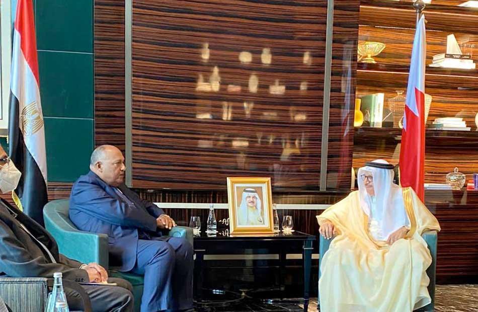 وزير الخارجية ونظيره البحريني يتبادلان الرؤى حيال المُستجدات الإقليمية   صور