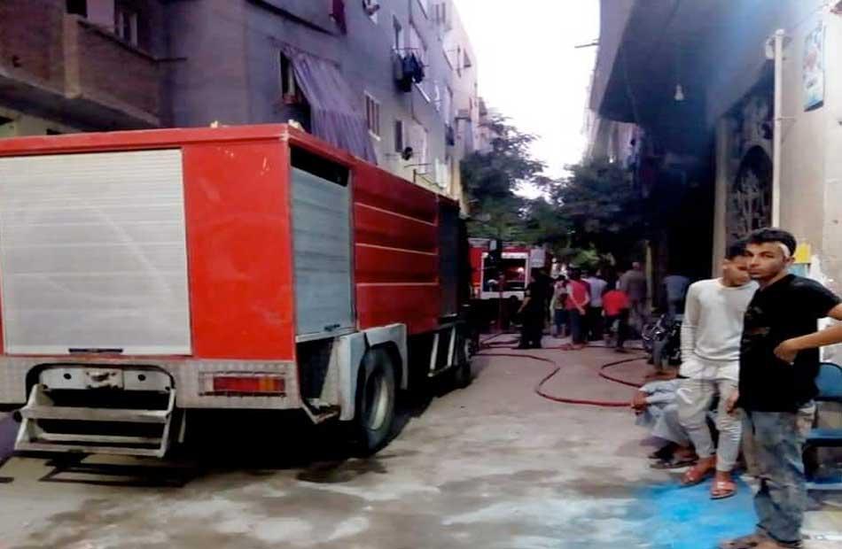 انتداب المعمل الجنائي لمعاينة حريق شقة سكنية بالخليفة