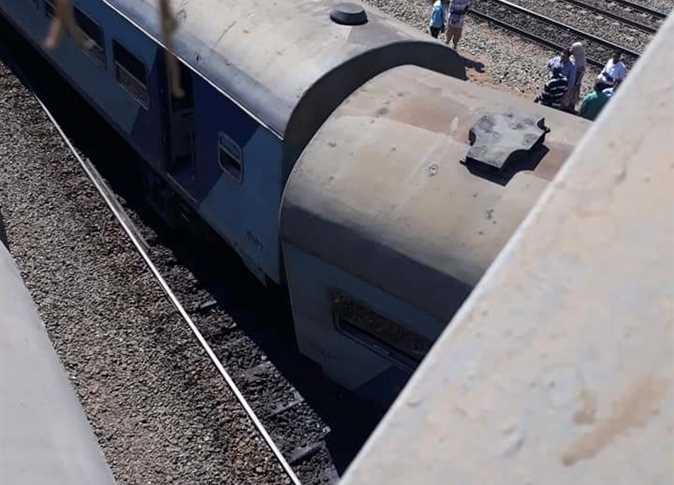 خروج  عربات من قطار  بورسعيد ـ الإسكندرية  عن القضبان بالشرقية دون وقوع إصابات
