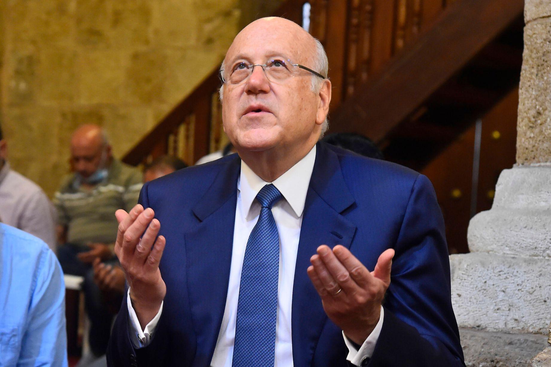 رئيس الحكومة اللبنانية يطلب منع إسرائيل من التنقيب عن النفط بالمنطقة المتنازع عليها