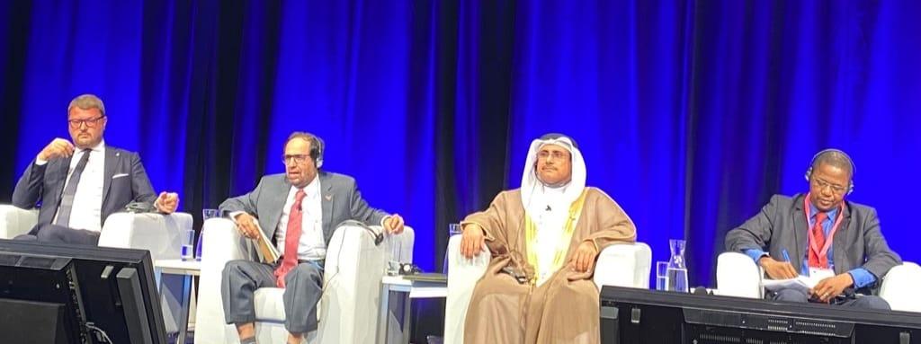 رئيس البرلمان العربى خلال القمة البرلمانية العالمية