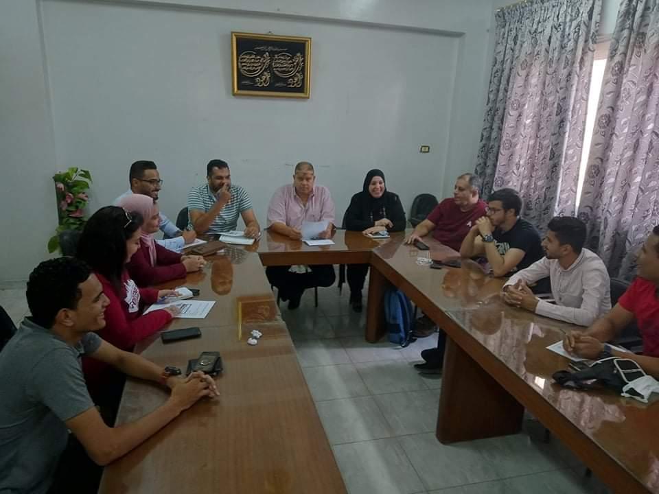 وكيل وزارة الشباب والرياضة يلتقى بهيئة مكتب نادي القيادات الشبابية بالدقهلية
