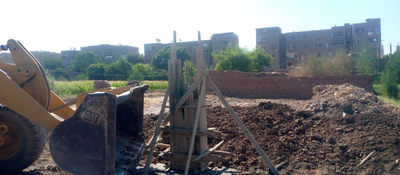 مخالفة تعدي على أرض زراعية بمدينة أرمنت