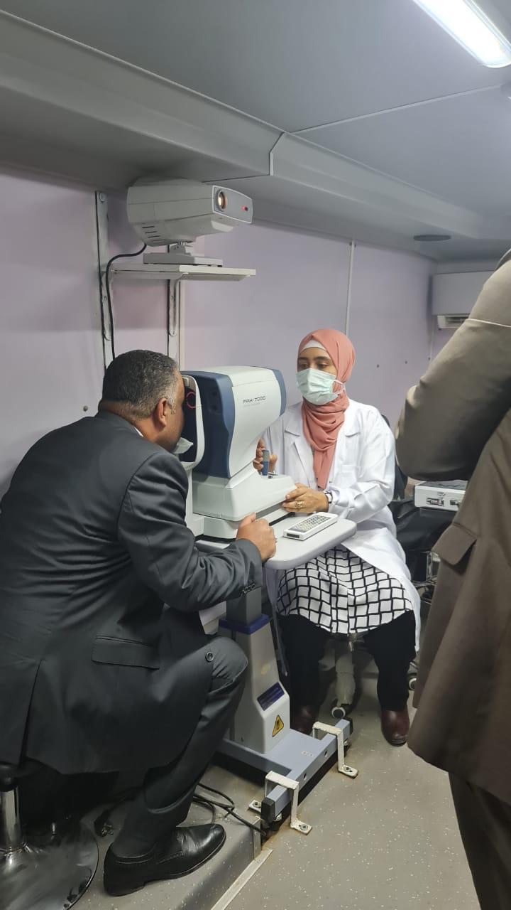 جانب من افتتاح العيادات الطبية المتخصصة لحزب مستقبل وطن بالقليوبية