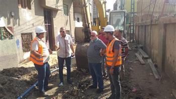 رئيس-مدينة-دسوق-بكفر-الشيخ-يتابع-سير-العمل-بمشروع-الصرف-الصحي-بأبطو-|-صور-