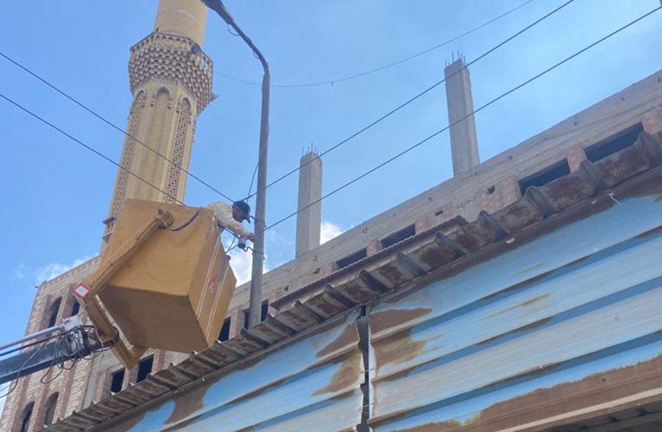 إصلاح ورفع كفاءة الإنارة العامة في مدينة كفرالزيات بالغربية  صور