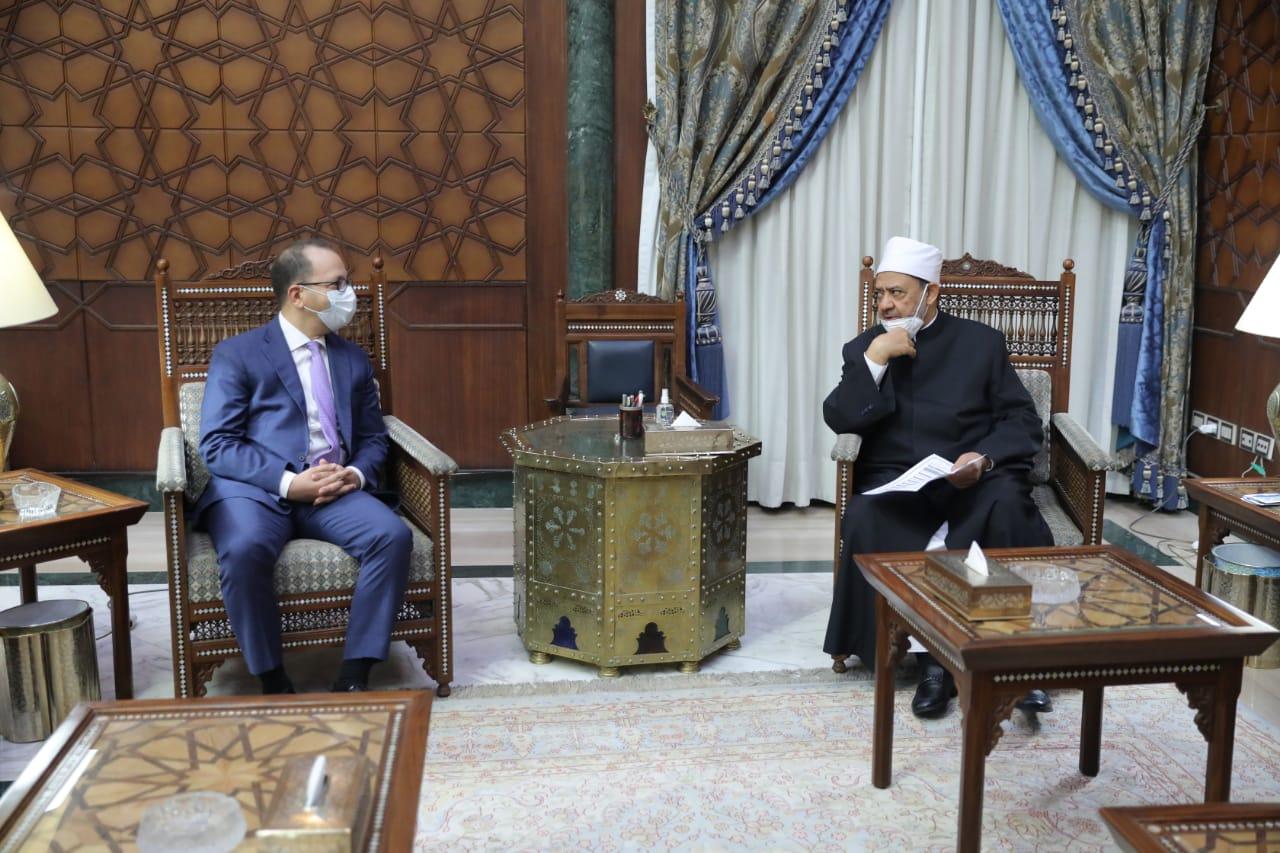 شيخ الأزهر يلتقي سفير مصر الجديد لدى إثيوبيا