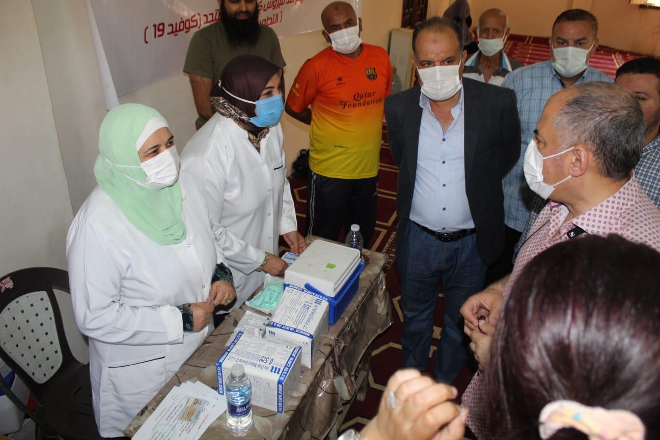 انطلاق حملة التطعيم ضد فيروس كورونا المستجد بالرمل  صور