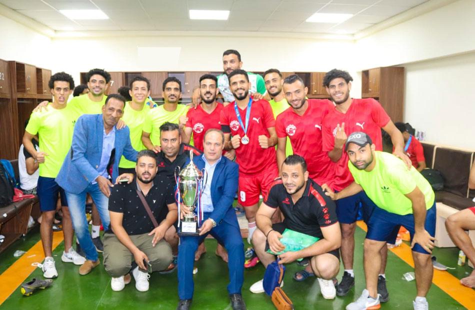 محافظ الفيوم يهنئ منتخب المحافظة بحصوله على بطولة كأس أفرع منتخبات المحافظات لكرة القدم| صور