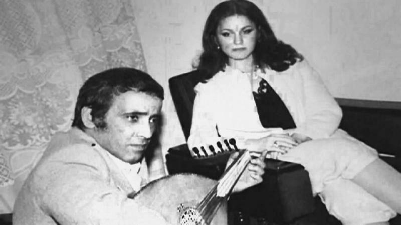 بليغ حمدى مع الفنانة المغربية سميرة مليان