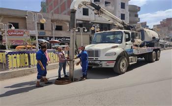 حملات-لتطهير-بالوعات-الصرف-الصحي-في-بيلا-بكفر-الشيخ-استعدادًا-للشتاء-|-صور-