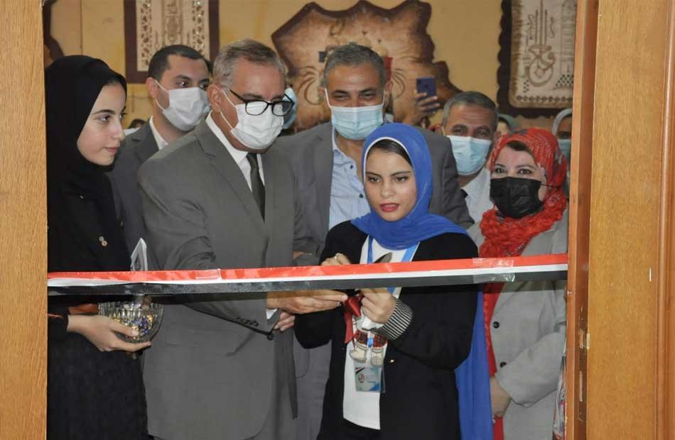 افتتاح  معارض فنية بكلية التربية النوعية بكفر الشيخ  صور