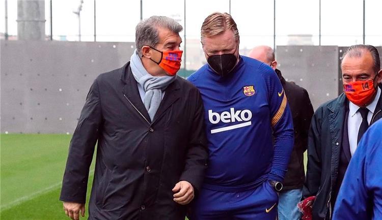 رئيس برشلونة يدعم ;كومان; ويطالب بالوقوقف بجانبه