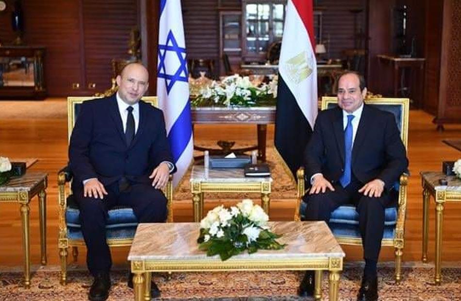 المتحدث الرئاسي ينشر فيديو استقبال الرئيس السيسي لرئيس الوزراء الإسرائيلي