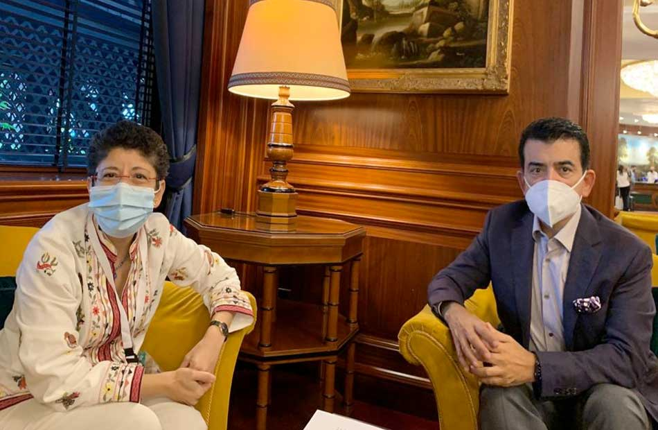 المدير العام للإيسيسكو يلتقي الأمين العام لمنظمة أديان من أجل السلام
