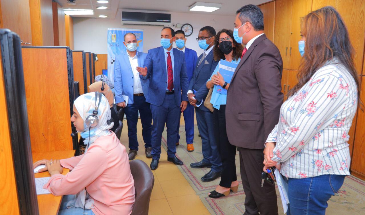 وفد من الأمم المتحدة  خلال زيارته صندوق مكافحة الإدمان