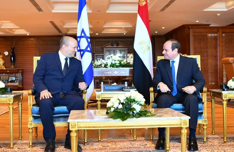 الرئيس السيسى مع رئيس الوزراء الإسرائيلي نفتالى بينيت