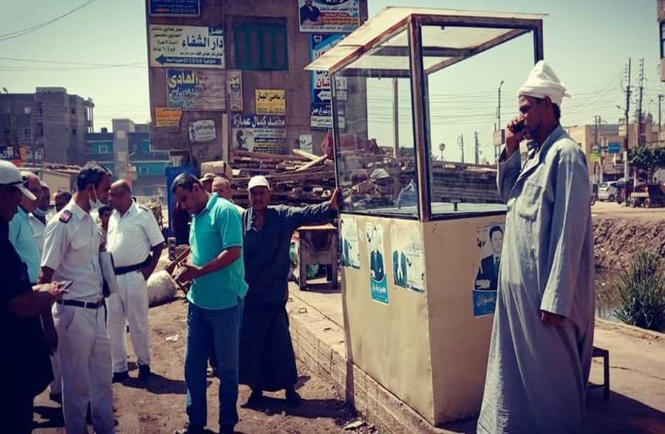 إزالة التعديات على نهر النيل بالدقهلية
