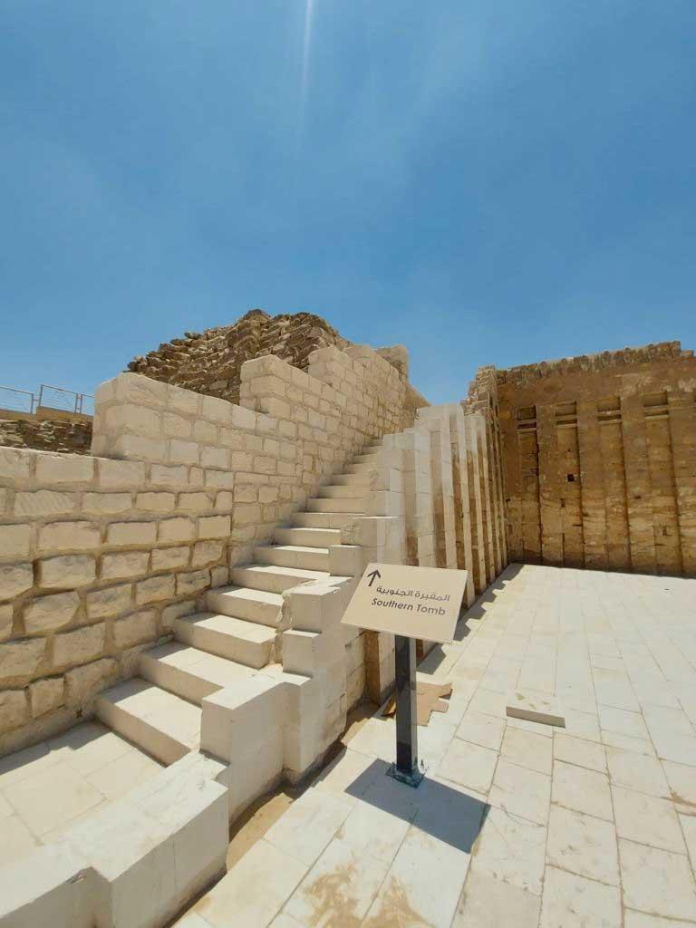 افتتاح مشروع ترميم المقبرة الجنوبية للملك زوسر بمنطقة آثار سقارة