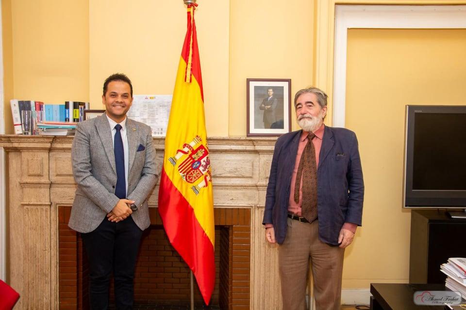 مدير معهد ثربانتس الأسباني يستقبل رئيس مهرجان شرم الشيخ الدولي للمسرح