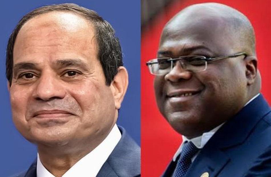 تطورات القضايا الإفريقية وتعزيز التبادل التجاري  تتصدران اتصال الرئيس السيسي ونظيره الكونغولي