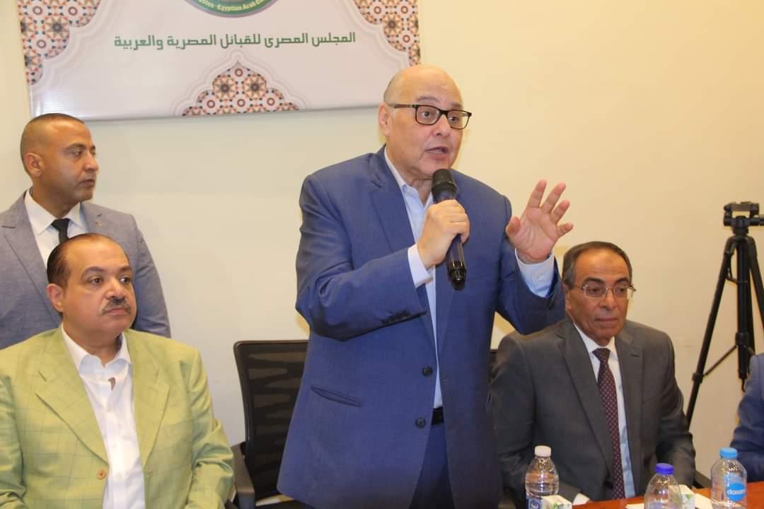 المهندس موسى مصطفى موسى أثناء مؤتمر الحزب