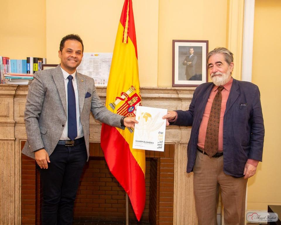 مدير معهد ثربانتس الأسباني ورئيس مهرجان شرم الشيخ الدولي للمسرح
