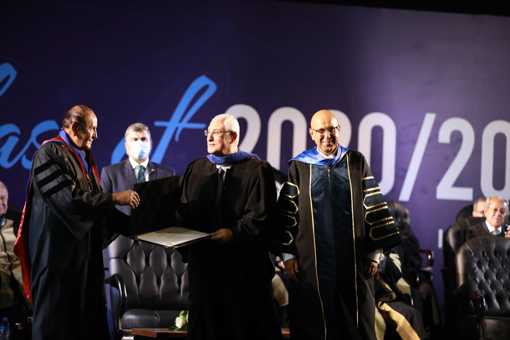 جامعة النيل الأهلية تمنح عدلي منصور أول دكتوراه فخرية في تاريخها  صور